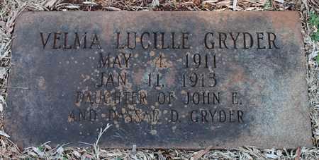 GRYDER, VELMA LUCILLE - Jefferson County, Alabama | VELMA LUCILLE GRYDER - Alabama Gravestone Photos