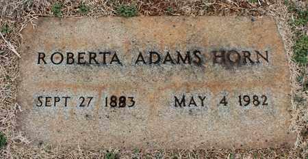ADAMS HORN, ROBERTA - Jefferson County, Alabama   ROBERTA ADAMS HORN - Alabama Gravestone Photos