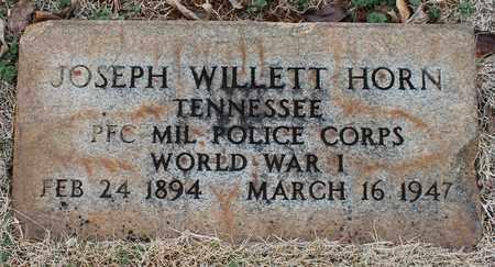 HORN (VETERAN WWI), JOSEPH WILLETT - Jefferson County, Alabama | JOSEPH WILLETT HORN (VETERAN WWI) - Alabama Gravestone Photos