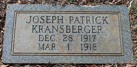 KRANSBERGER, JOSEPH PATRICK - Jefferson County, Alabama | JOSEPH PATRICK KRANSBERGER - Alabama Gravestone Photos