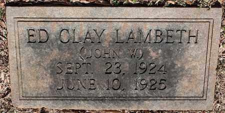 LAMBETH, ED CLAY - Jefferson County, Alabama | ED CLAY LAMBETH - Alabama Gravestone Photos
