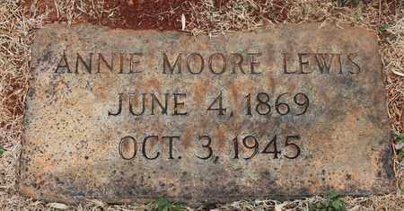 MOORE LEWIS, ANNIE - Jefferson County, Alabama | ANNIE MOORE LEWIS - Alabama Gravestone Photos