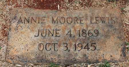 MOORE LEWIS, ANNIE - Jefferson County, Alabama | ANNIE MOORE LEWIS - Alabama Gravestone Photos