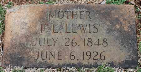 LEWIS, F E - Jefferson County, Alabama | F E LEWIS - Alabama Gravestone Photos