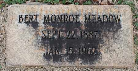 MEADOW, BERT MONROE - Jefferson County, Alabama | BERT MONROE MEADOW - Alabama Gravestone Photos