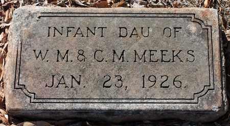 MEEKS, INFANT - Jefferson County, Alabama | INFANT MEEKS - Alabama Gravestone Photos