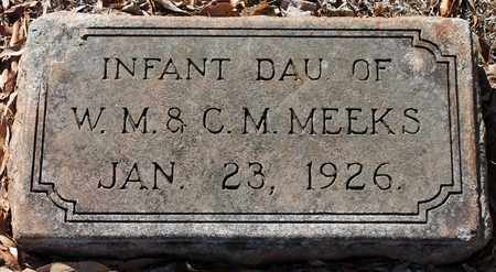MEEKS, INFANT - Jefferson County, Alabama | INFANT MEEKS - Alabama Gravestone Photos