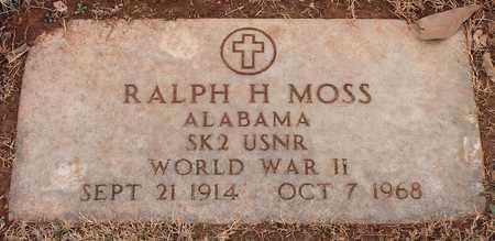 MOSS (VETERAN WWII), RALPH H - Jefferson County, Alabama | RALPH H MOSS (VETERAN WWII) - Alabama Gravestone Photos