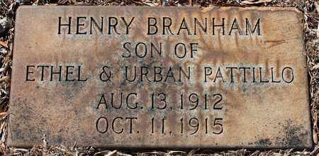 PATTILLO, HENRY BRANHAM - Jefferson County, Alabama | HENRY BRANHAM PATTILLO - Alabama Gravestone Photos