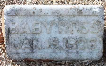 ROSS, BABY - Jefferson County, Alabama | BABY ROSS - Alabama Gravestone Photos