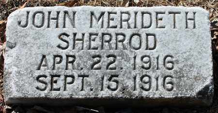 SHERROD, JOHN MERIDETH - Jefferson County, Alabama | JOHN MERIDETH SHERROD - Alabama Gravestone Photos