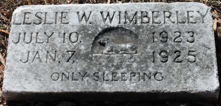 WIMBERLEY, LESLIE W - Jefferson County, Alabama | LESLIE W WIMBERLEY - Alabama Gravestone Photos