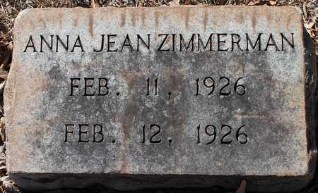 ZIMMERMAN, ANNA JEAN - Jefferson County, Alabama | ANNA JEAN ZIMMERMAN - Alabama Gravestone Photos