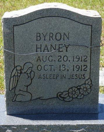 HANEY, BYRON - Lamar County, Alabama   BYRON HANEY - Alabama Gravestone Photos