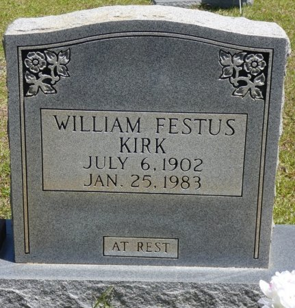 KIRK, WILLIAM FESTUS - Lamar County, Alabama | WILLIAM FESTUS KIRK - Alabama Gravestone Photos