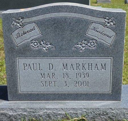MARKHAM, PAUL D - Lamar County, Alabama   PAUL D MARKHAM - Alabama Gravestone Photos