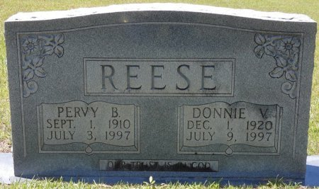 """REESE, DONNA VEE """"ALLEY/DONNIE"""" - Lamar County, Alabama 