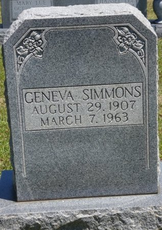 SIMMONS, GENEVA - Lamar County, Alabama | GENEVA SIMMONS - Alabama Gravestone Photos