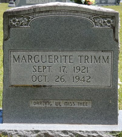 TRIMM, MARGUERITE - Lamar County, Alabama | MARGUERITE TRIMM - Alabama Gravestone Photos
