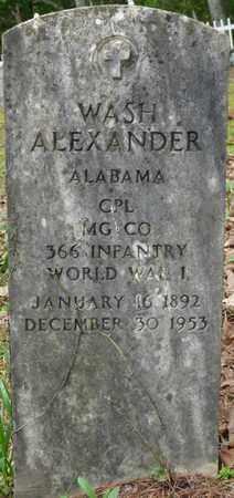 ALEXANDER (VETERAN WWI), WASH - Lauderdale County, Alabama | WASH ALEXANDER (VETERAN WWI) - Alabama Gravestone Photos