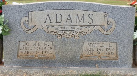 ADAMS, JOHNIE M - Lauderdale County, Alabama | JOHNIE M ADAMS - Alabama Gravestone Photos