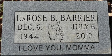 BRANHAM BARRIER, LAROSE - Lauderdale County, Alabama   LAROSE BRANHAM BARRIER - Alabama Gravestone Photos