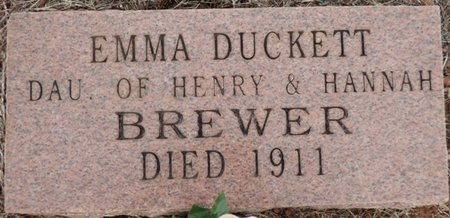 BREWER, EMMA DUCKETT - Lauderdale County, Alabama | EMMA DUCKETT BREWER - Alabama Gravestone Photos