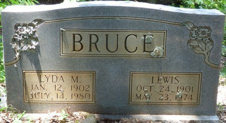 BRUCE, LYDA M - Lauderdale County, Alabama | LYDA M BRUCE - Alabama Gravestone Photos