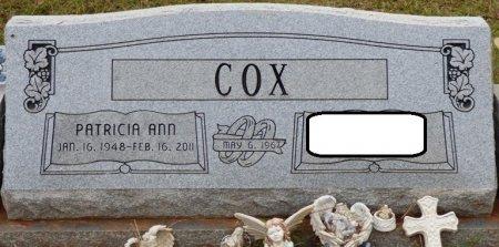 "COX, PATRICIA ANN ""PAT"" - Lauderdale County, Alabama   PATRICIA ANN ""PAT"" COX - Alabama Gravestone Photos"