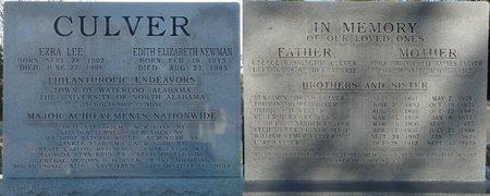 CULVER, EDITH ELIZABETH - Lauderdale County, Alabama | EDITH ELIZABETH CULVER - Alabama Gravestone Photos