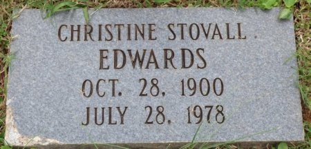 EDWARDS, CHRISTINE STOVALL - Lauderdale County, Alabama | CHRISTINE STOVALL EDWARDS - Alabama Gravestone Photos