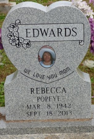 "EDWARDS, REBECCA ""POPEYE"" - Lauderdale County, Alabama | REBECCA ""POPEYE"" EDWARDS - Alabama Gravestone Photos"