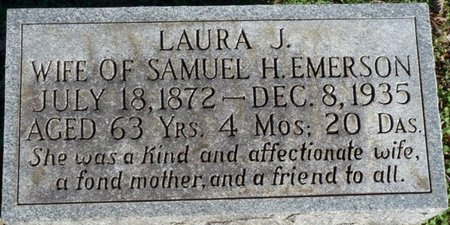 PERKINS EMERSON, LAURA JANE - Lauderdale County, Alabama | LAURA JANE PERKINS EMERSON - Alabama Gravestone Photos