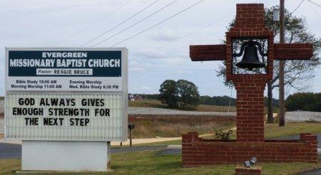 *EVERGREEN BAPTIST, CEMETERY - Lauderdale County, Alabama | CEMETERY *EVERGREEN BAPTIST - Alabama Gravestone Photos