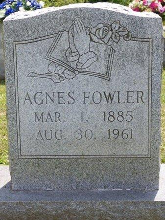 FOWLER, AGNES - Lauderdale County, Alabama | AGNES FOWLER - Alabama Gravestone Photos