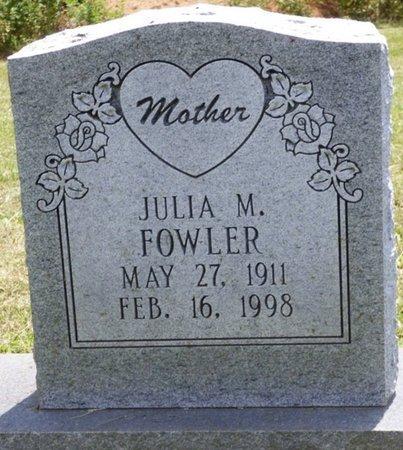 FOWLER, JULIA M - Lauderdale County, Alabama | JULIA M FOWLER - Alabama Gravestone Photos