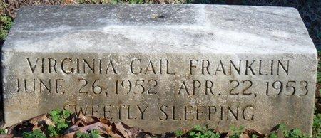 FRANKLIN, VIRGINIA GAIL - Lauderdale County, Alabama | VIRGINIA GAIL FRANKLIN - Alabama Gravestone Photos