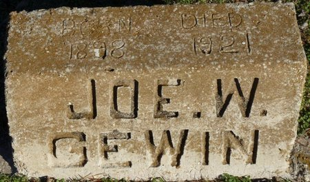 "GEWIN, JOSEPH W ""JOE"" - Lauderdale County, Alabama 