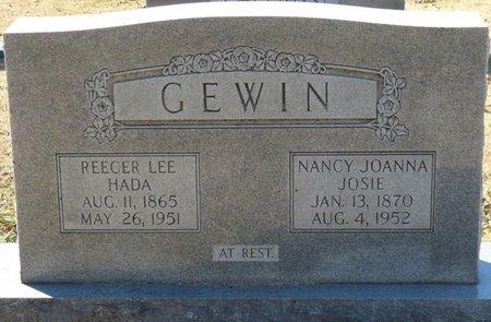 "RICHARDSON GEWIN, NANCY JOANNA ""JOSIE"" - Lauderdale County, Alabama   NANCY JOANNA ""JOSIE"" RICHARDSON GEWIN - Alabama Gravestone Photos"