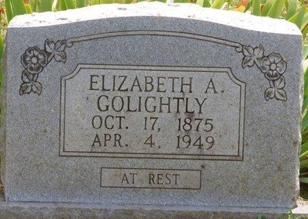 GOLIGHTLY, ELIZABETH A - Lauderdale County, Alabama | ELIZABETH A GOLIGHTLY - Alabama Gravestone Photos
