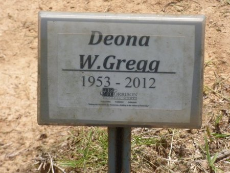 """WESSON GREGG, DEONA """"DEE"""" - Lauderdale County, Alabama 