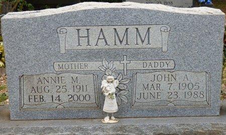 HAMM, ANNIE M - Lauderdale County, Alabama   ANNIE M HAMM - Alabama Gravestone Photos