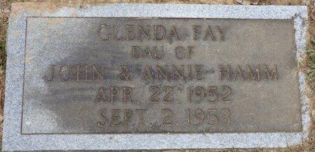 HAMM, GLENDA FAY - Lauderdale County, Alabama   GLENDA FAY HAMM - Alabama Gravestone Photos