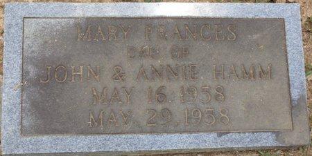 HAMM, MARY FRANCES - Lauderdale County, Alabama   MARY FRANCES HAMM - Alabama Gravestone Photos