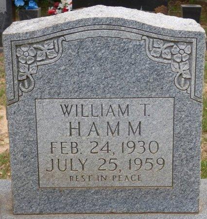 HAMM, WILLIAM T - Lauderdale County, Alabama   WILLIAM T HAMM - Alabama Gravestone Photos