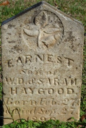 HAYGOOD, EARNEST - Lauderdale County, Alabama | EARNEST HAYGOOD - Alabama Gravestone Photos