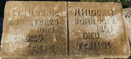 "LUCAS HIGGINS, EMMALINE F ""ENNA"" - Lauderdale County, Alabama   EMMALINE F ""ENNA"" LUCAS HIGGINS - Alabama Gravestone Photos"