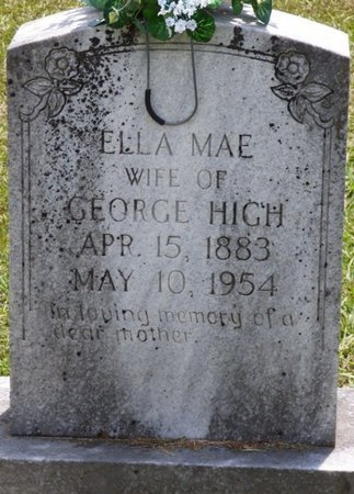 HIGH, ELLA MAE - Lauderdale County, Alabama | ELLA MAE HIGH - Alabama Gravestone Photos