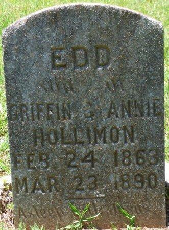 HOLLIMON, EDD - Lauderdale County, Alabama   EDD HOLLIMON - Alabama Gravestone Photos