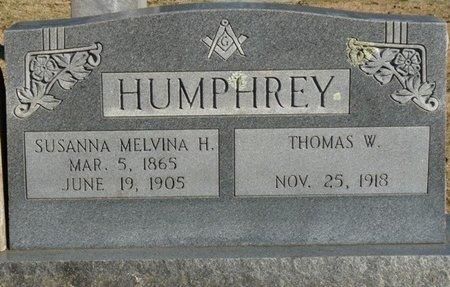 HUMPHREY, SUSANNA MELVINA - Lauderdale County, Alabama | SUSANNA MELVINA HUMPHREY - Alabama Gravestone Photos